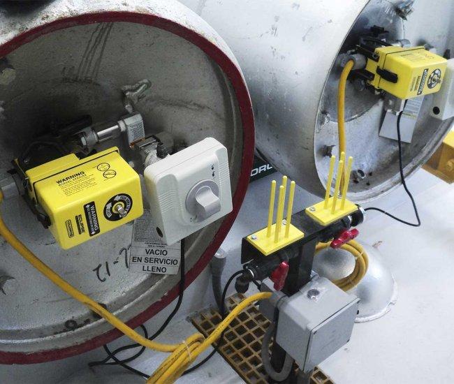 Montaje de actuadores sobre Cilindro de 907Kg.