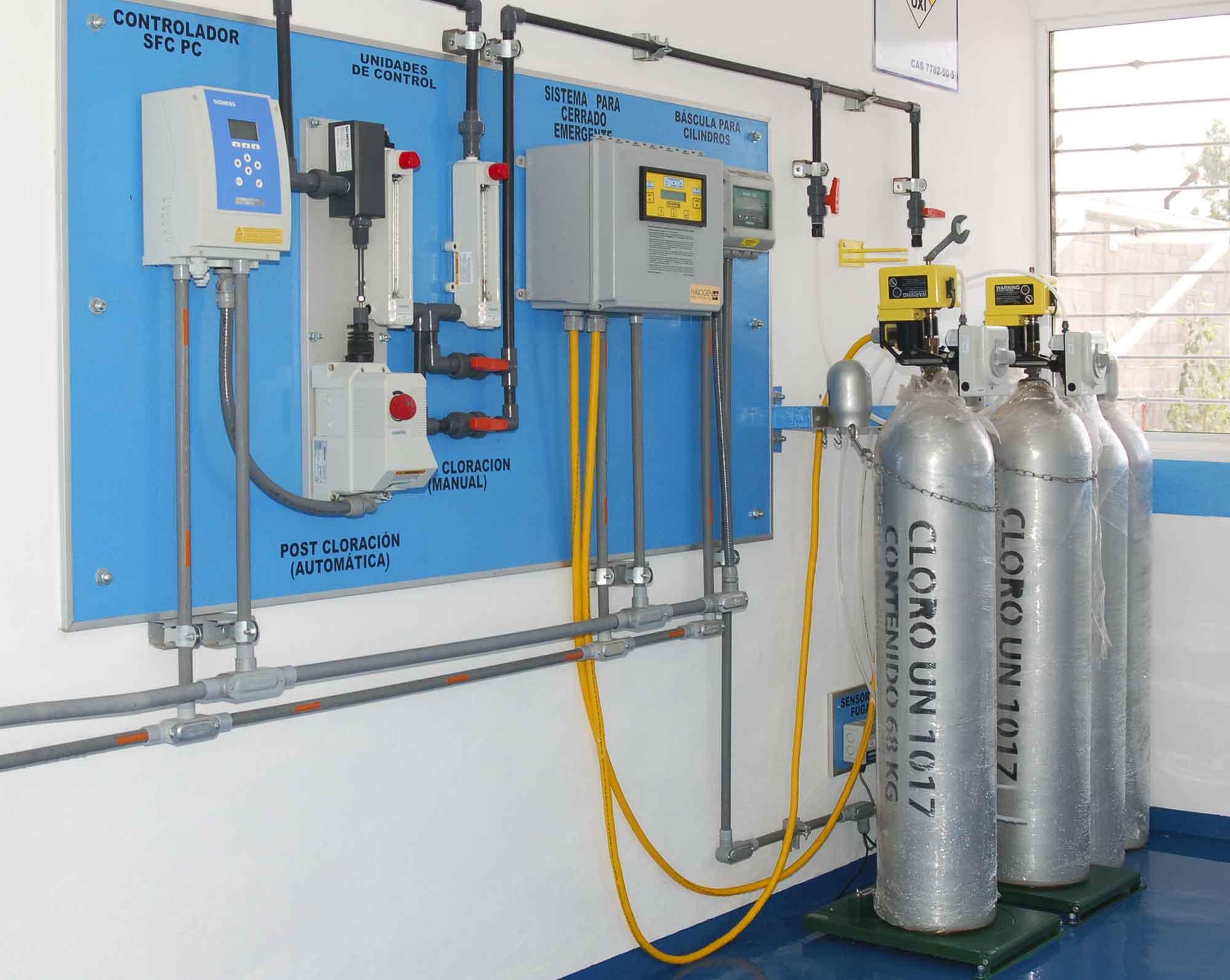 Sistema de Extracción, Montaje sobre cilindros de 68 Kg